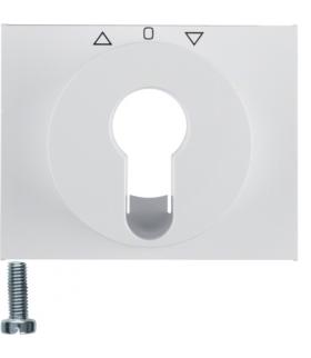 K.1 Płytka czołowa do łącznika żaluzjowego obrotowego na klucz, biały Berker 15047109