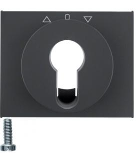 K.1 Płytka czołowa do łącznika żaluzjowego obrotowego na klucz, antracyt mat, lakierowany Berker 15047106