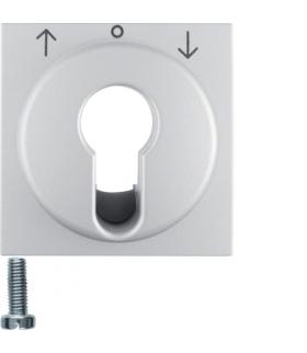 B.Kwadrat/B.7 Płytka czołowa do łącznika żaluzjowego na klucz, alu mat, lakierowany Berker 15061404
