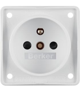 Integro Flow Gniazdo z uziemieniem z podwyższona ochroną styków, biały, mat Berker 961952502