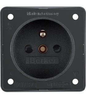 Integro Flow Gniazdo z uziemieniem z podwyższona ochroną styków, antracyt, mat Berker 961952505