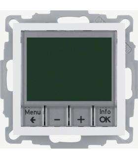 B.3/B.7 Regulator temperatury ze sterowaniem czasowym ze stykiem zwiernym i elementem centralnym, biały Berker 20441909