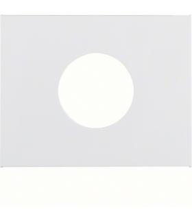 K.1 Płytka czołowa do łącznika i sygnalizatora świetlnego E10, biały Berker 11657009