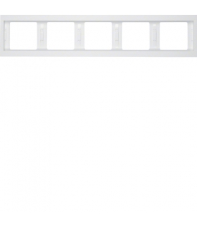 K.1 Ramka 5-krotna, pozioma, biały, połysk Berker 13937009