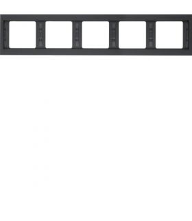 K.1 Ramka 5-krotna, pozioma, antracyt mat, lakierowany Berker 13937006