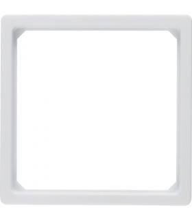 Q.x Pierścień przejściowy do płytki centralnej 50 x 50 mm, biały, aksamit Berker 11096079