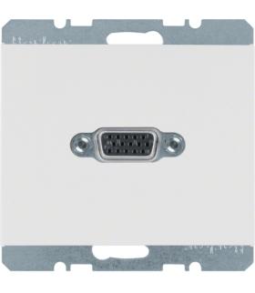K.1 Gniazdo VGA, zaciski śrubowe, biały, połysk Berker 3315417009