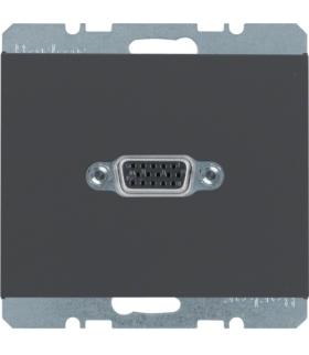 K.1 Gniazdo VGA, zaciski śrubowe, antracyt, mat Berker 3315417006