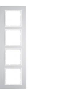 B.3 Ramka 4-krotna, alu/biały Berker 10143904