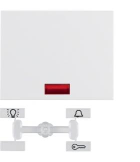 K.1 Klawisz z 5 dołączonymi soczewkami do łącznika 1-klawiszowego, biały Berker 14157009