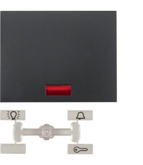 K.1 Klawisz z 5 dołączonymi soczewkami do łącznika 1-klawiszowego, antracyt mat, lakierowany Berker 14157006