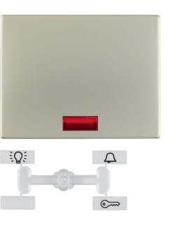 K.5 Klawisz z 5 dołączonymi soczewkami do łącznika 1-klawiszowego, stal szlachetna nierdzewna Berker 14157004