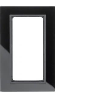 B.7 Ramka z dużym wycięciem, szkło czarne/biały mat Berker 13096616