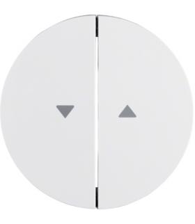 """R.1/R.3 Klawisze z nadrukiem symbolu """"strzałka"""" do łącznika 2-klawiszowego, biały, połysk Berker 16252089"""