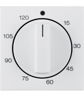 B.x/S.1 Płytka czołowa z pokrętłem regulacyjnym do mechanicznego łącznika czasowego 120 min, biały, połysk Berker 16338989