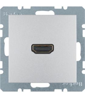 B.Kwadrat/B.7 Gniazdo HDMI z przyłączem 90°, alu, mat Berker 3315431404