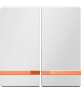 Q.x Klawisze z pomarańczową soczewką do łącznika 2-klawiszowego, biały, aksamit Berker 16276089