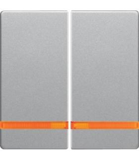 Q.x Klawisze z pomarańczową soczewką do łącznika 2-klawiszowego, alu aksamit, lakierowany Berker 16276084