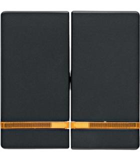 Q.x Klawisze z pomarańczową soczewką do łącznika 2-klawiszowego, antracyt, aksamit Berker 16276086