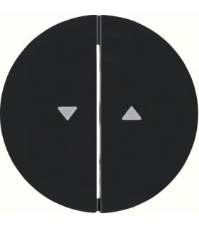 """R.1/R.3 Klawisze z nadrukiem symbolu """"strzałka"""" do łącznika 2-klawiszowego, czarny, połysk Berker 16252045"""