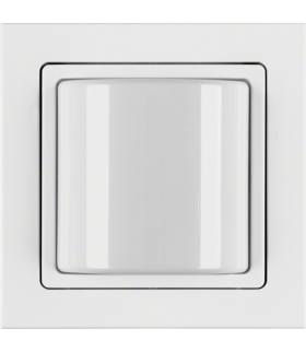 Q.3 System przywoławczy Sygnalizator świetlny z ramką, biały aksamit Berker 52036099