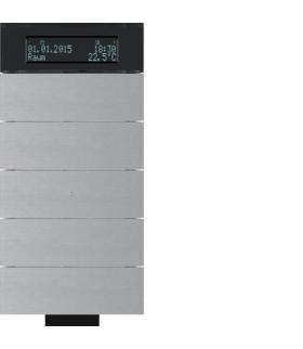 B.IQ Przycisk IR 5-kr z reg. temp. i wyśw. aluminium