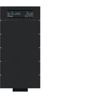 B.IQ Przycisk IR 5-kr z reg. temp. i wyśw. szkło czarne