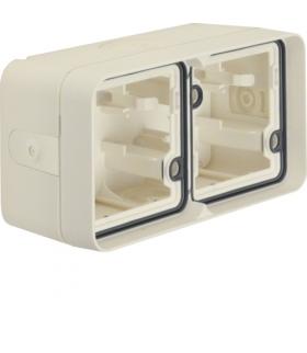 W.1 Adapter natynkowy 2-kr poziomy, 4 wejścia, IP55, biały Berker 6719323512