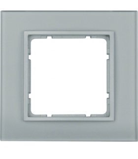 B.7 Ramka 1-krotna, szkło alu/alu mat lakierowany Berker 10116414