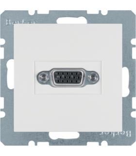 B.x/S.1 Gniazdo VGA, biały, połysk Berker 3315408989