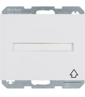 K.1 Gniazdo SCHUKO z samozamykającą się pokrywą i polem opisowym, samozaciski, biały Berker 47527209