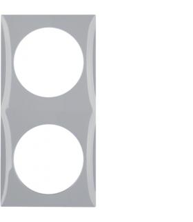 Integro Flow Ramka 2-krotna, szary, połysk Berker 918262507