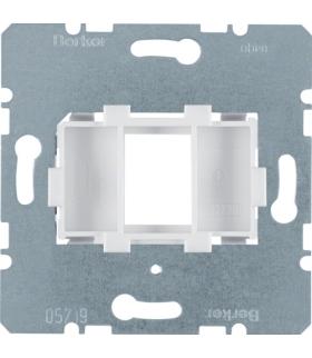 one.platform Płytka nośna pojedyncza z białym elementem mocującym, mechanizm Berker 454002