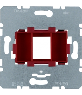 one.platform Płytka nośna pojedyncza z czerwonym elementem mocującym, mechanizm Berker 454001