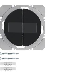 R.1/R.3 KNX RF Przycisk radiowy 2-kr płaski z baterią słoneczną Berker.Net, czarny, połysk Berker 85656131