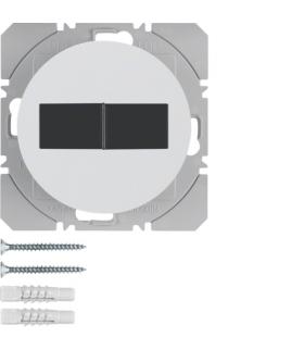 R.1/R.3 KNX RF Przycisk radiowy 2-kr płaski z baterią słoneczną Berker.Net, biały, połysk Berker 85656139