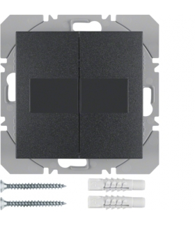 B.x/S.1 KNX RF Przycisk 2-kr płaski z baterią słoneczną Berker.Net, antracyt, mat Berker 85656185