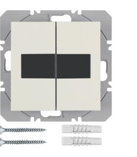 B.Kwadrat/S.1 KNX RF Przycisk 2-kr płaski z baterią słoneczną Berker.Net, kremowy, połysk Berker 85656182