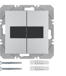 B.Kwadrat/B.7 KNX RF Przycisk 2-kr płaski z baterią słoneczną Berker.Net, alu, mat Berker 85656183
