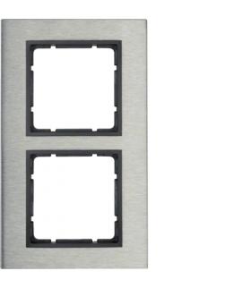 B.7 Ramka 2-krotna pionowa, stal szlachetna/antracyt mat Berker 10123606