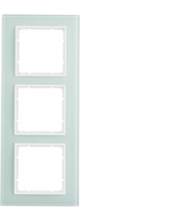B.7 Ramka 3-krotna, szkło białe/biały mat Berker 10136909
