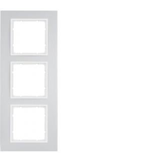B.7 Ramka 3-krotna, alu/biały mat Berker 10136914