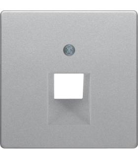 Q.x Płytka czołowa do gniazda przyłączeniowego UAE 1-kr komputerowego i telefonicznego, alu aksamit, lakierowany Berker 14076084