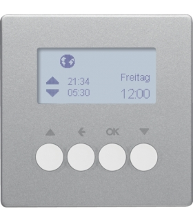 Q.x Łącznik żaluzjowy czasowy z wyświetlaczem do sterowników żaluzjowych Berker.Net, alu aksamit, lakierowany Berker 85741124