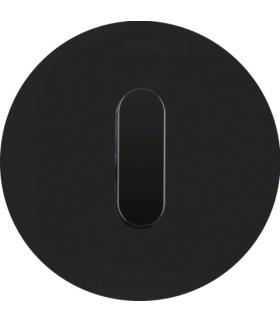 R.classic Płytka czołowa z pokrętłem do łącznika obrotowego, szkło, czarny Berker 10012055