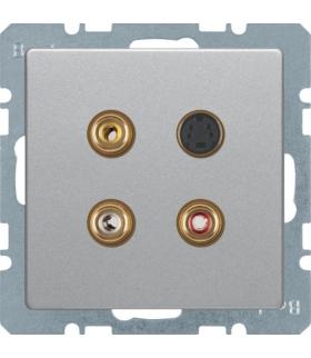 Q.x Gniazdo 3xCinch/S-Video, alu aksamit, lakierowany Berker 3315326084