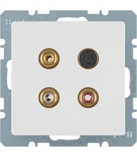 Q.x Gniazdo 3xCinch/S-Video, biały, aksamit Berker 3315326089