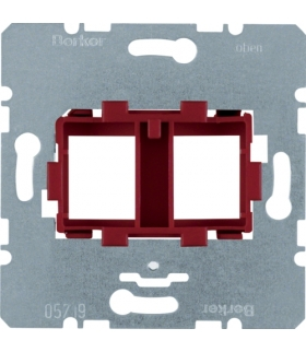 one.platform Płytka nośna podwójna z czerwonym elementem mocującym, mechanizm Berker 454101