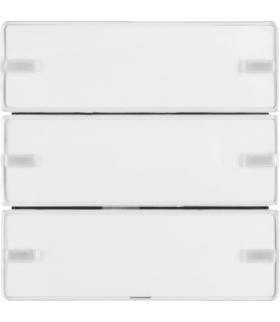 KNX e/s Q.x Przycisk 3-kr z polem opis., diod. LED RGB i czuj. temp., biały