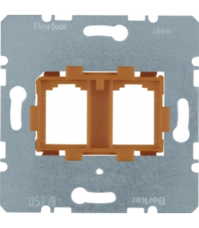 one.platform Płytka nośna podwójna z pomarańczowym elementem mocującym, mechanizm Berker 454109
